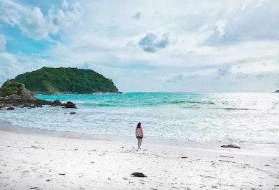 women on shore during daytime phuket zoom background
