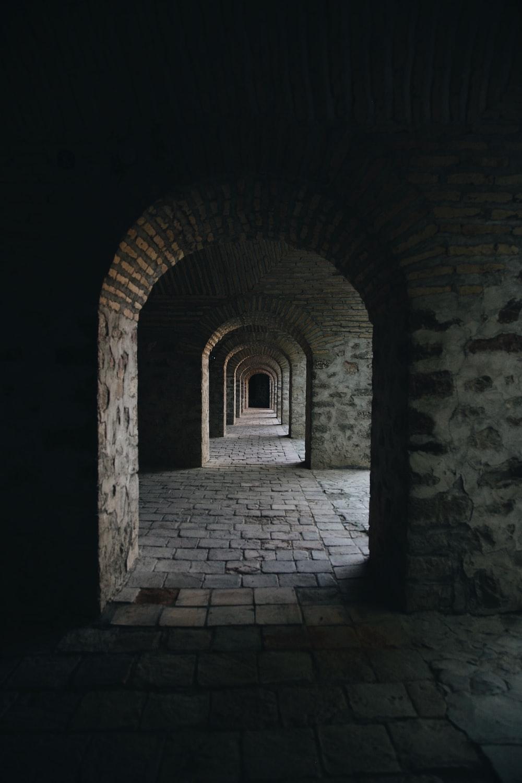brick walled hallways