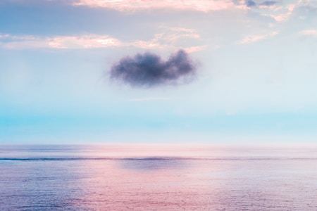 cloud above ocean