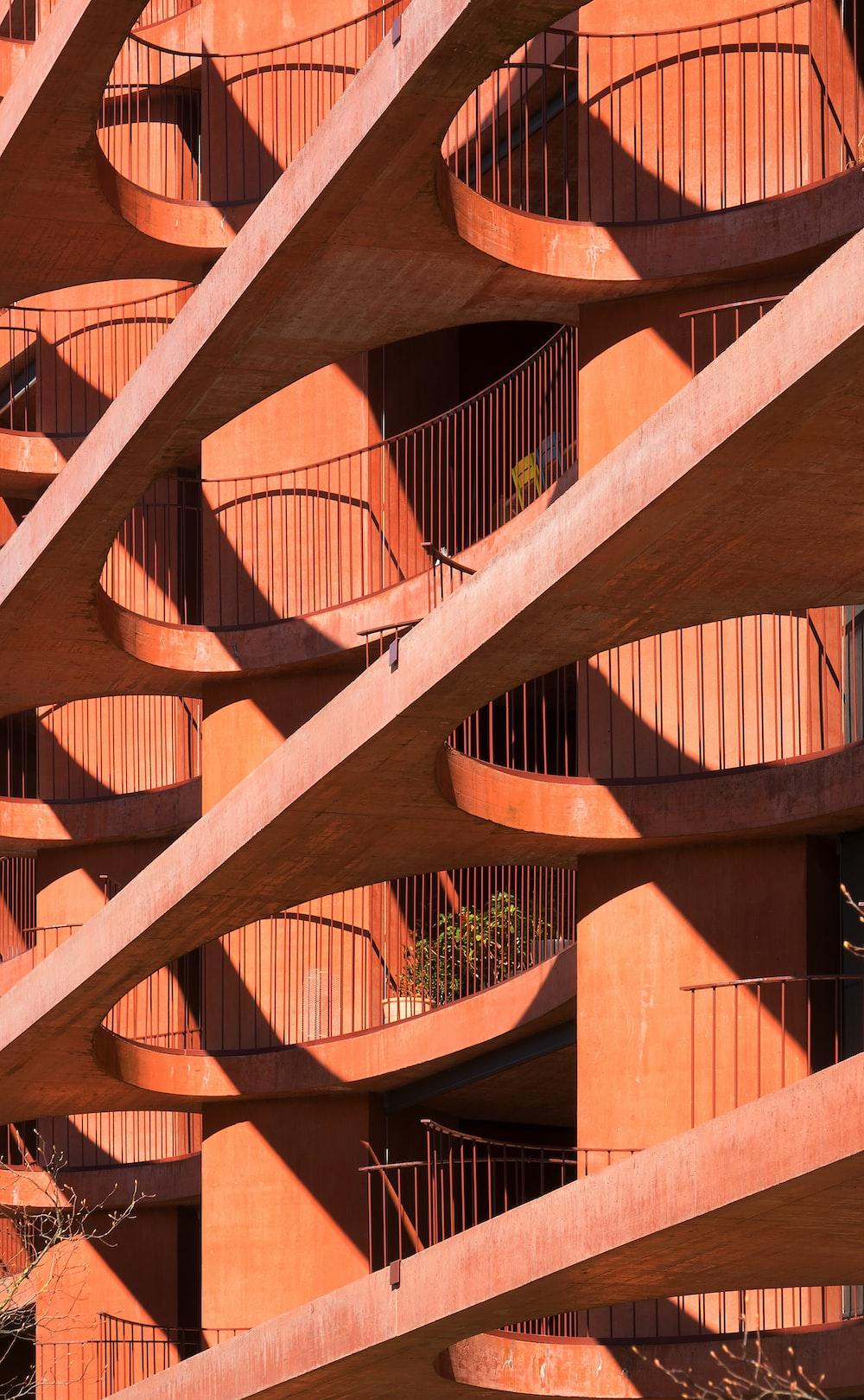 brown paint concrete building