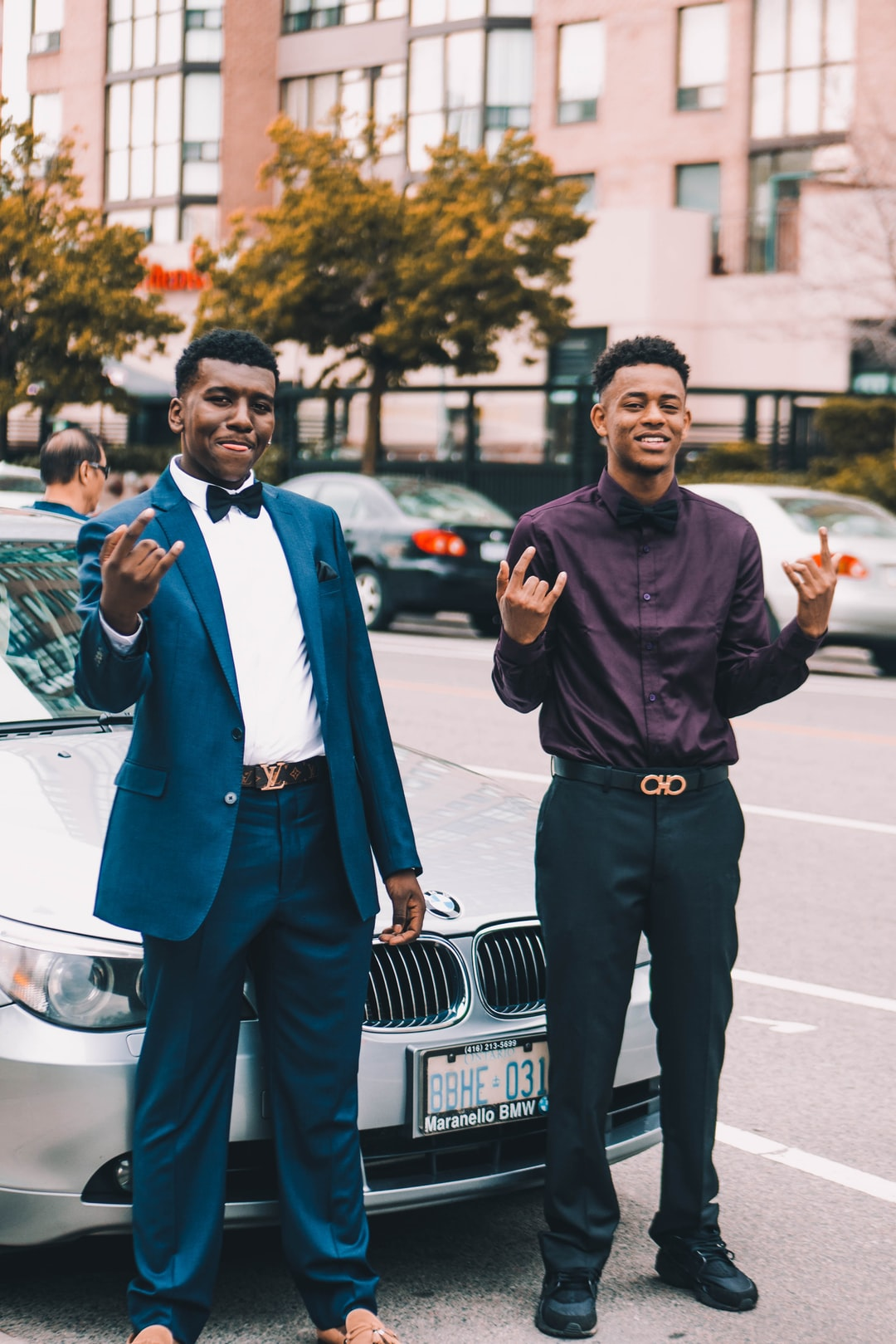 Two men with BMW