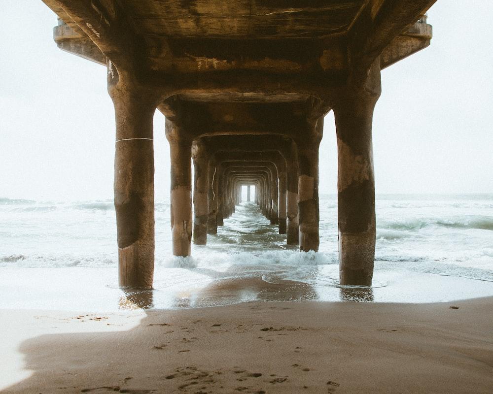 photo of brown wooden dock
