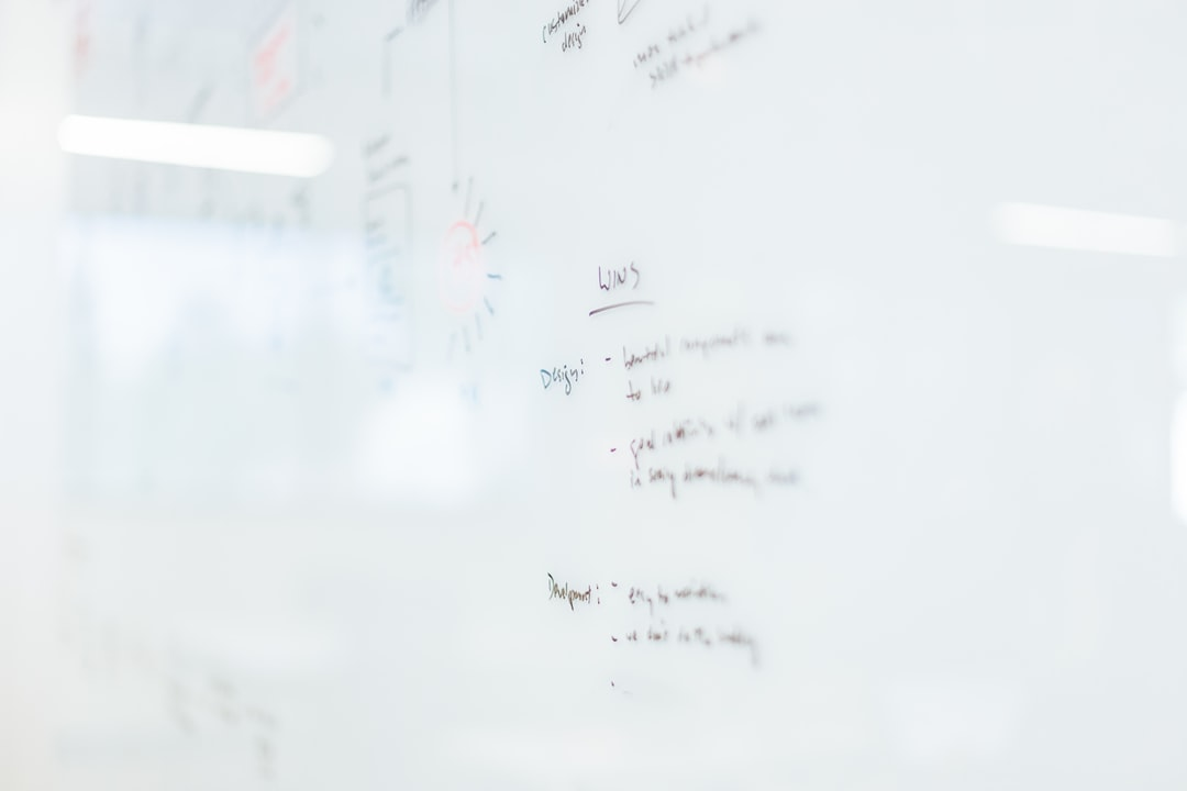 Business plan on a whiteboard