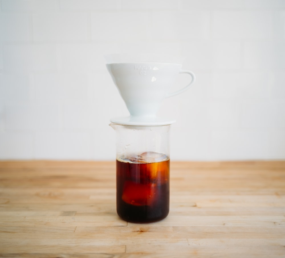 cup on pitcher