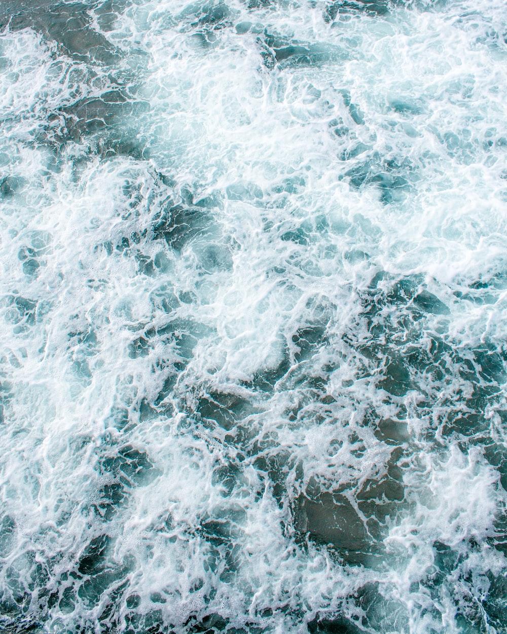 top view of ocean waves