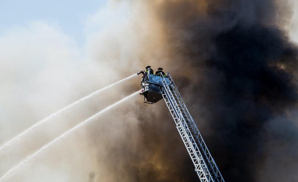 fireman on action