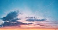 photo of blue and orange sky