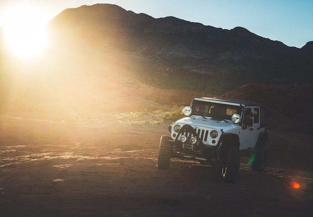 photo of white Jeep Wrangler