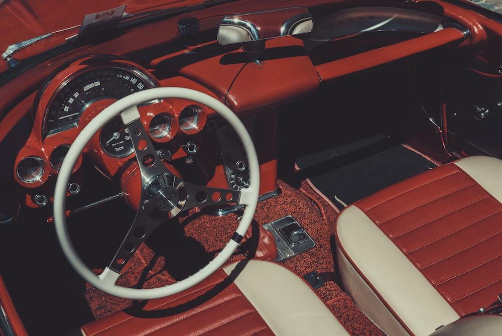 vintage car dashboard
