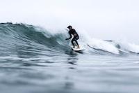 long exposure of man surfing