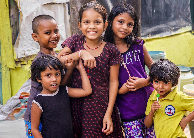 five children smiling