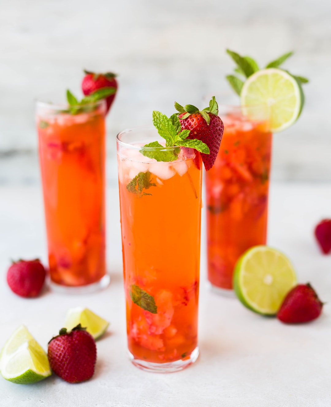 Strawberry cocktail drinks