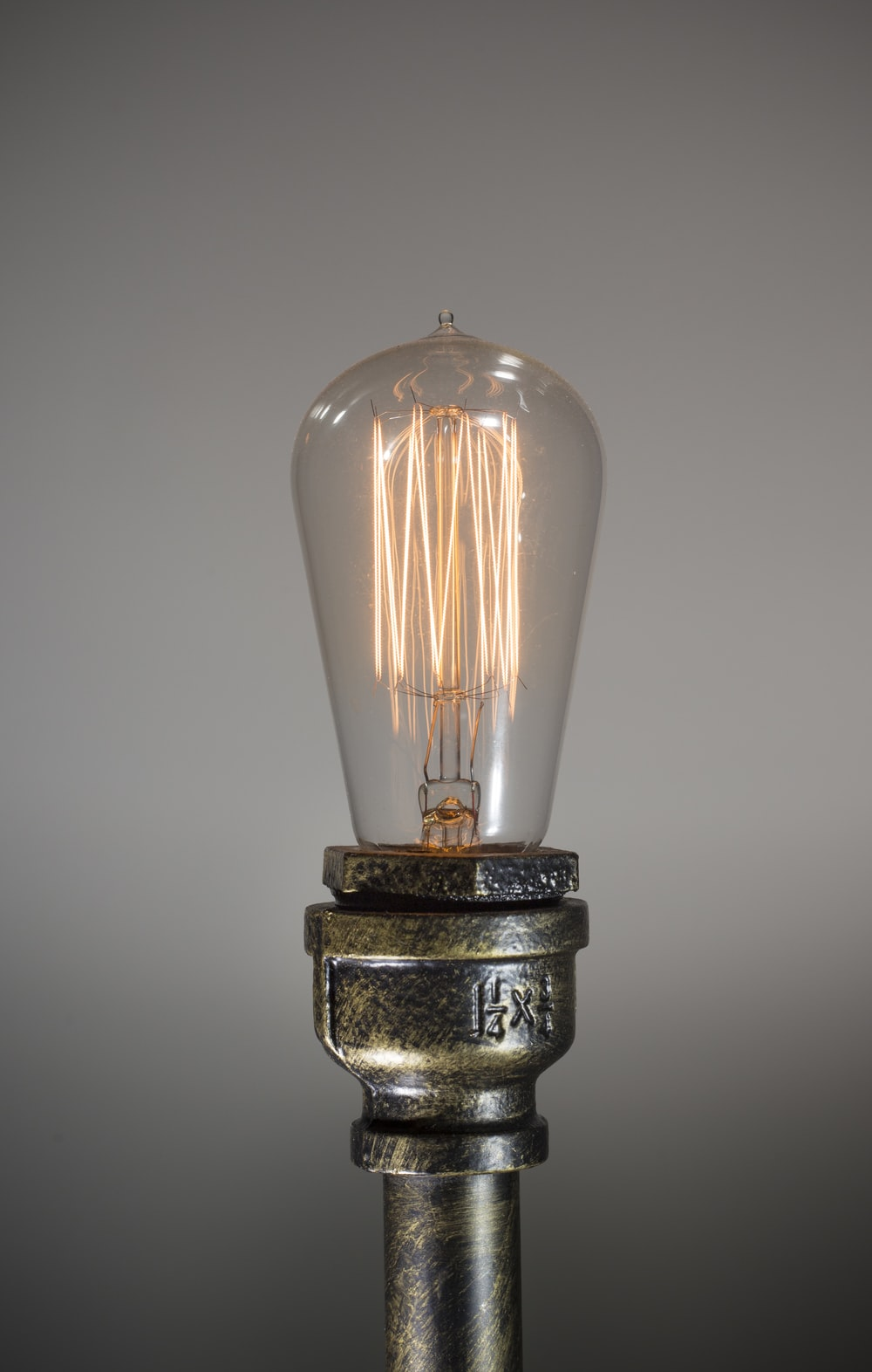 lighted light bulb