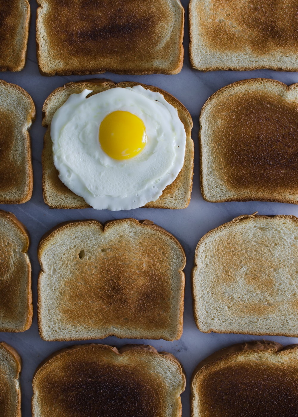sunny side up egg on toasted breads