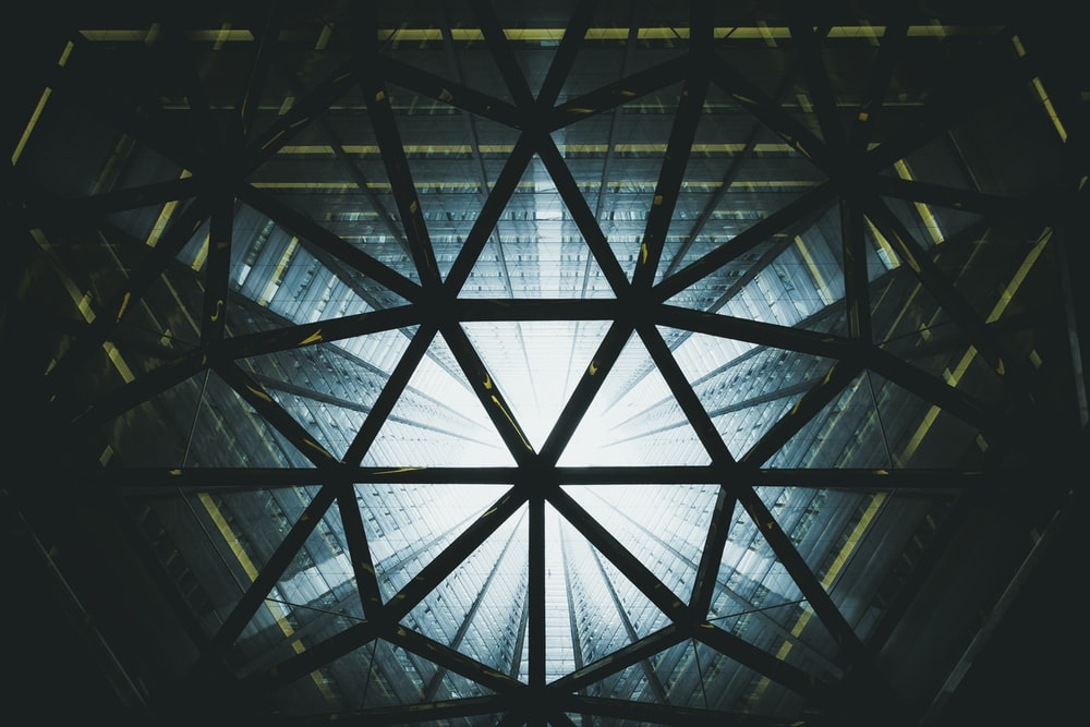 black architectural frame