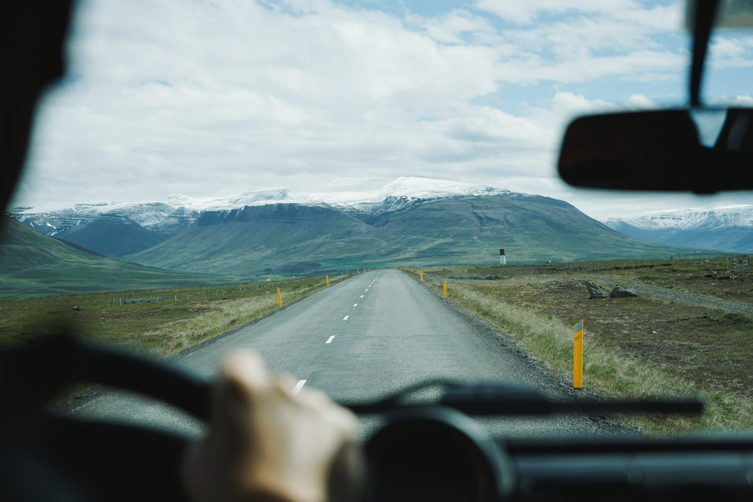 Driver view mountains