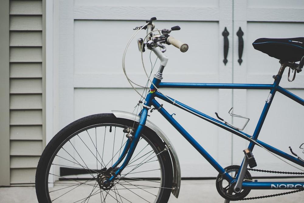blue rigid bike