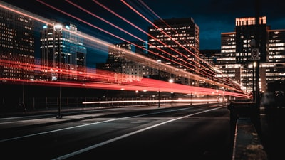 long exposure photography of road and cars transportation zoom background