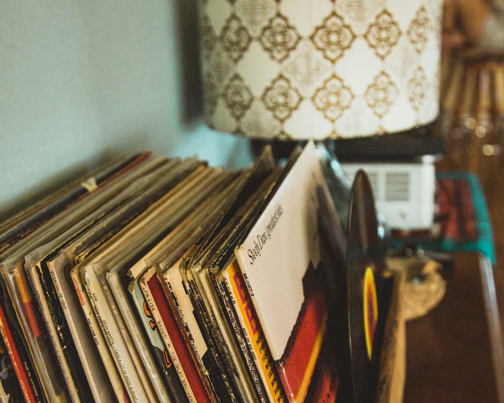 file of books