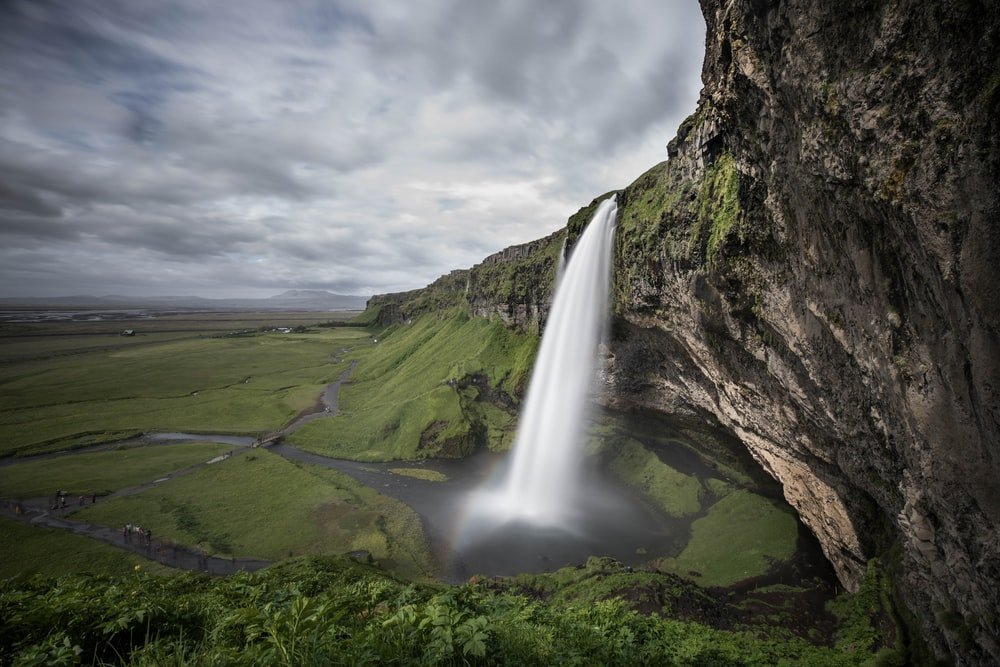 waterfalls aerial shot