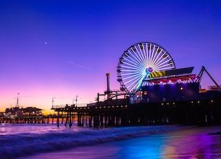 time lapse photography of amusement park