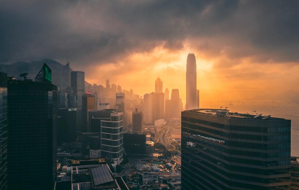 silhouette photo of cityscape