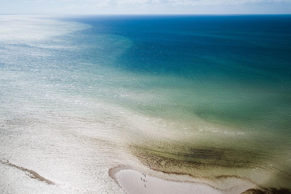 aerial shot of body of water