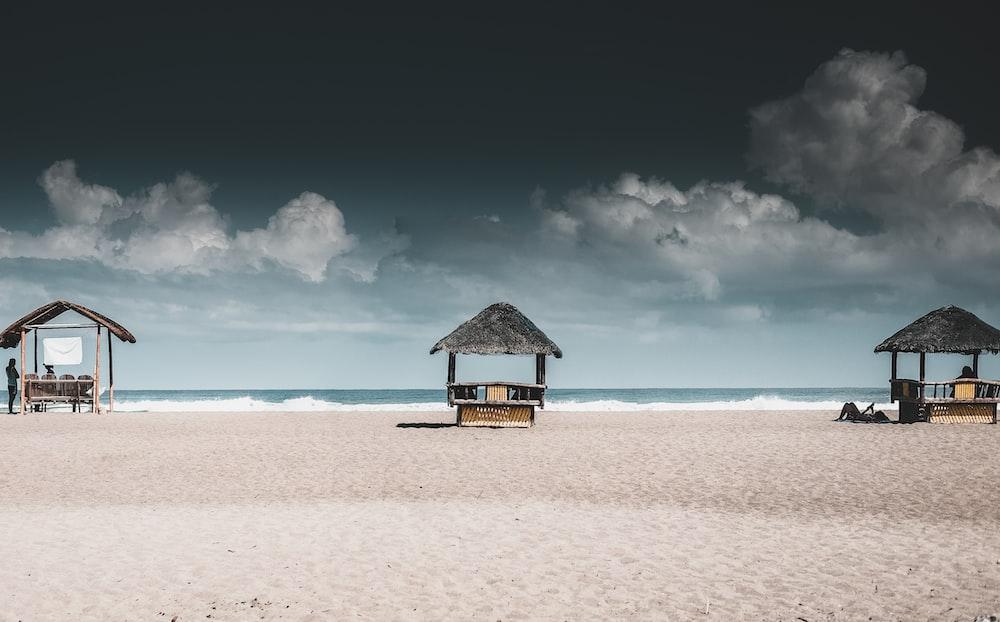 gazebos at beach resort