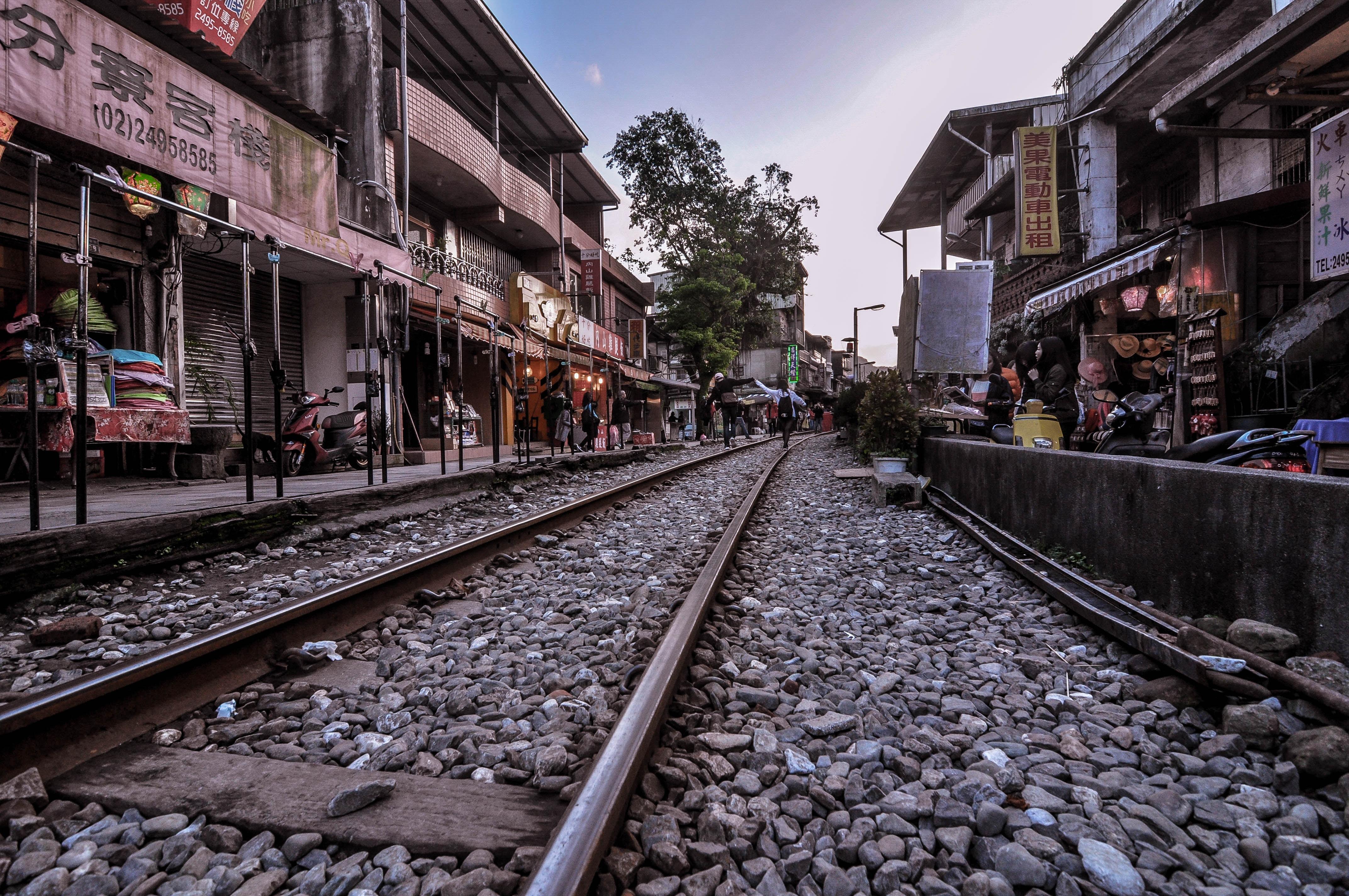 railway near houses