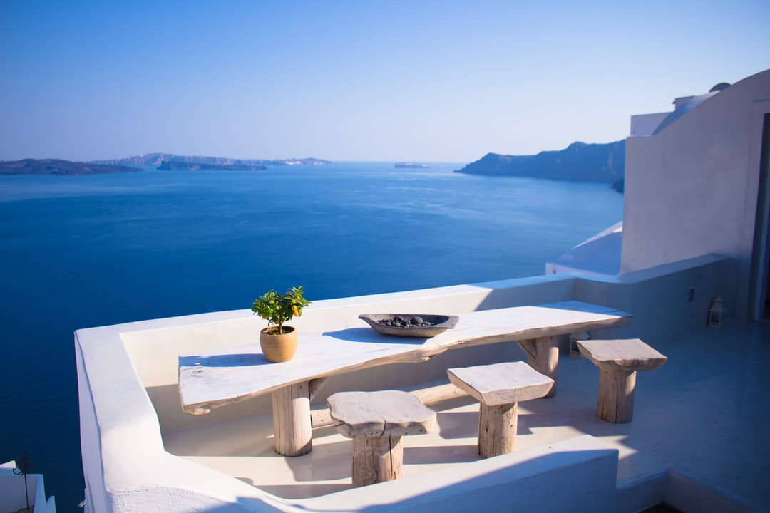 Very Greek table and view