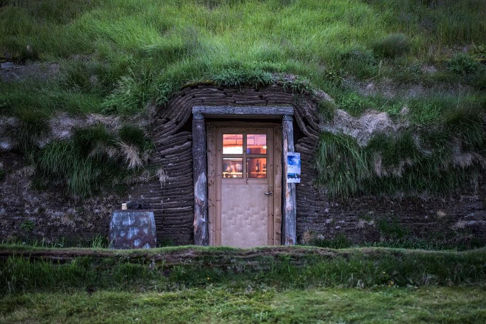 closed door hobbit house