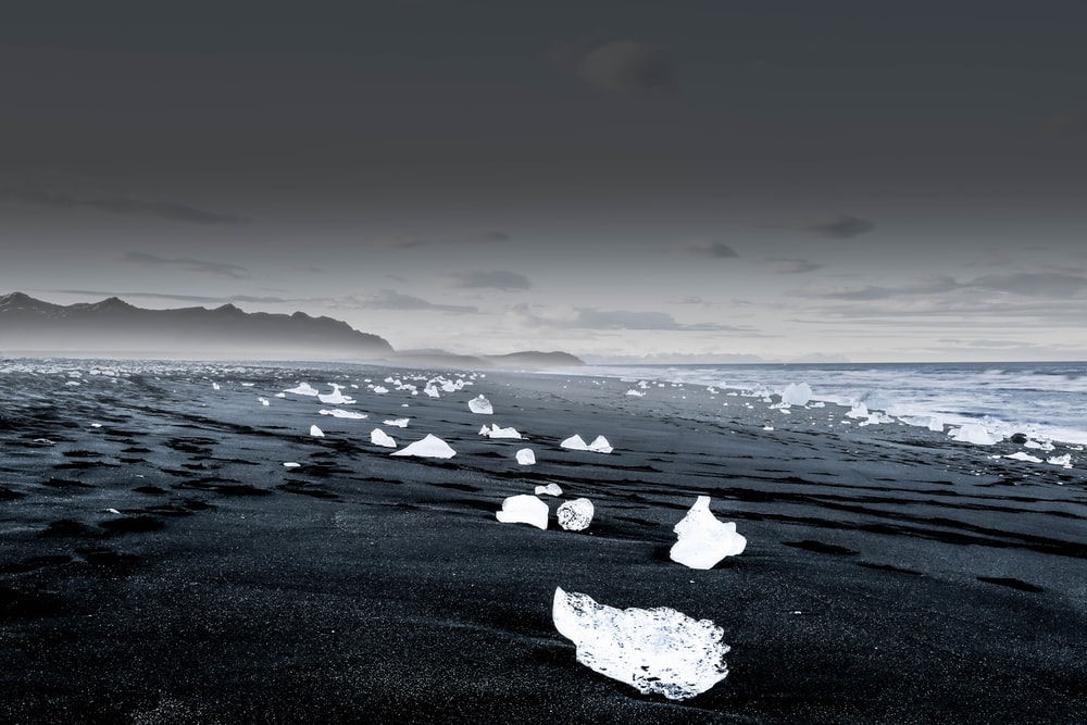 landscape photography of icebergs