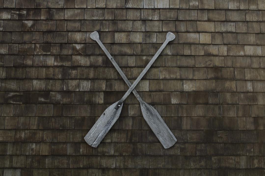 Wooden oar sign