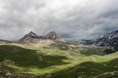 bird's eye-view photo of highland montenegro zoom background