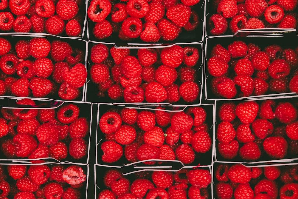 bunch of raspberries