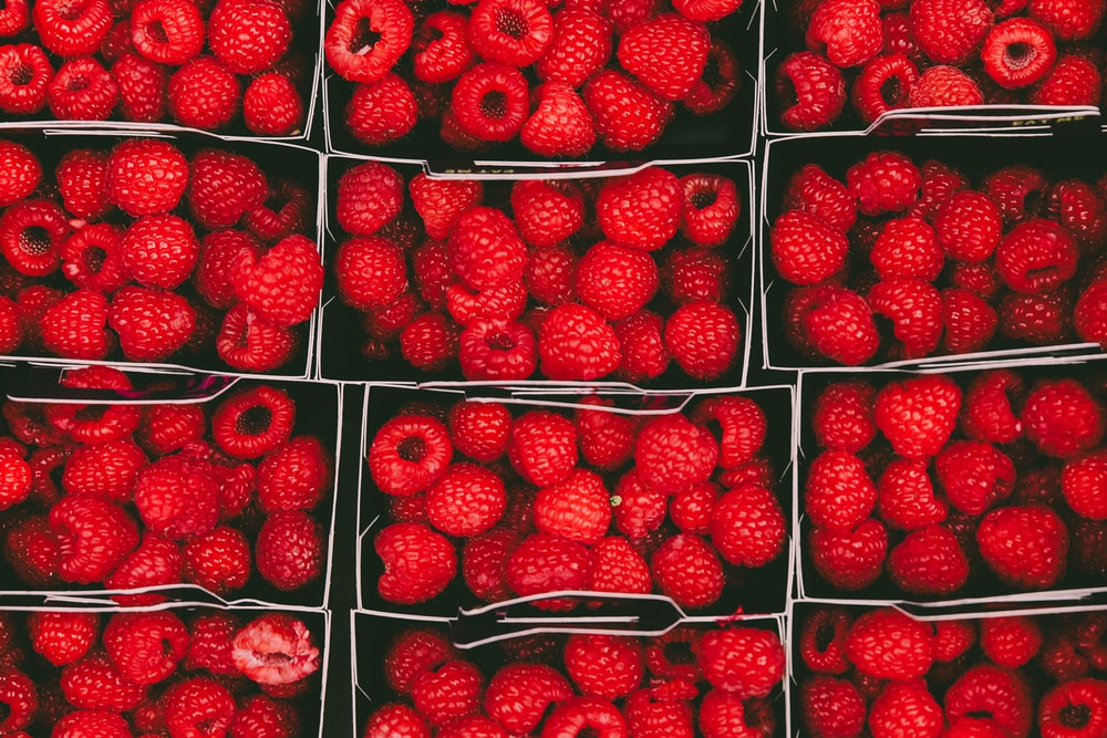 bunch of raspberries