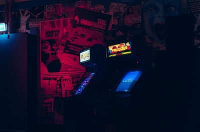 two arcade cabinets arcade zoom background