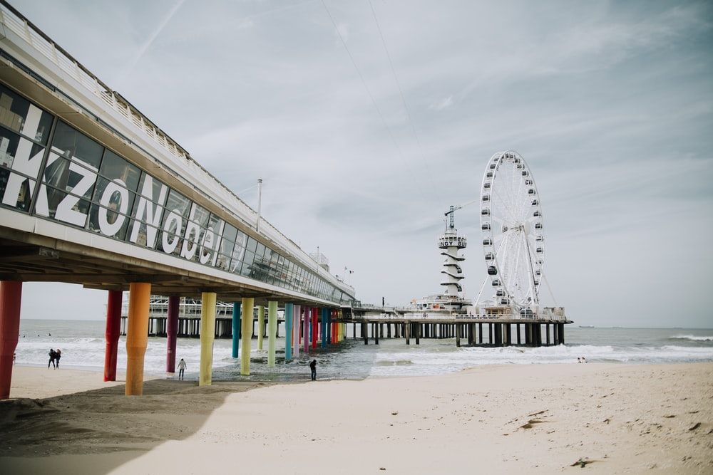 ferris wheel near sea