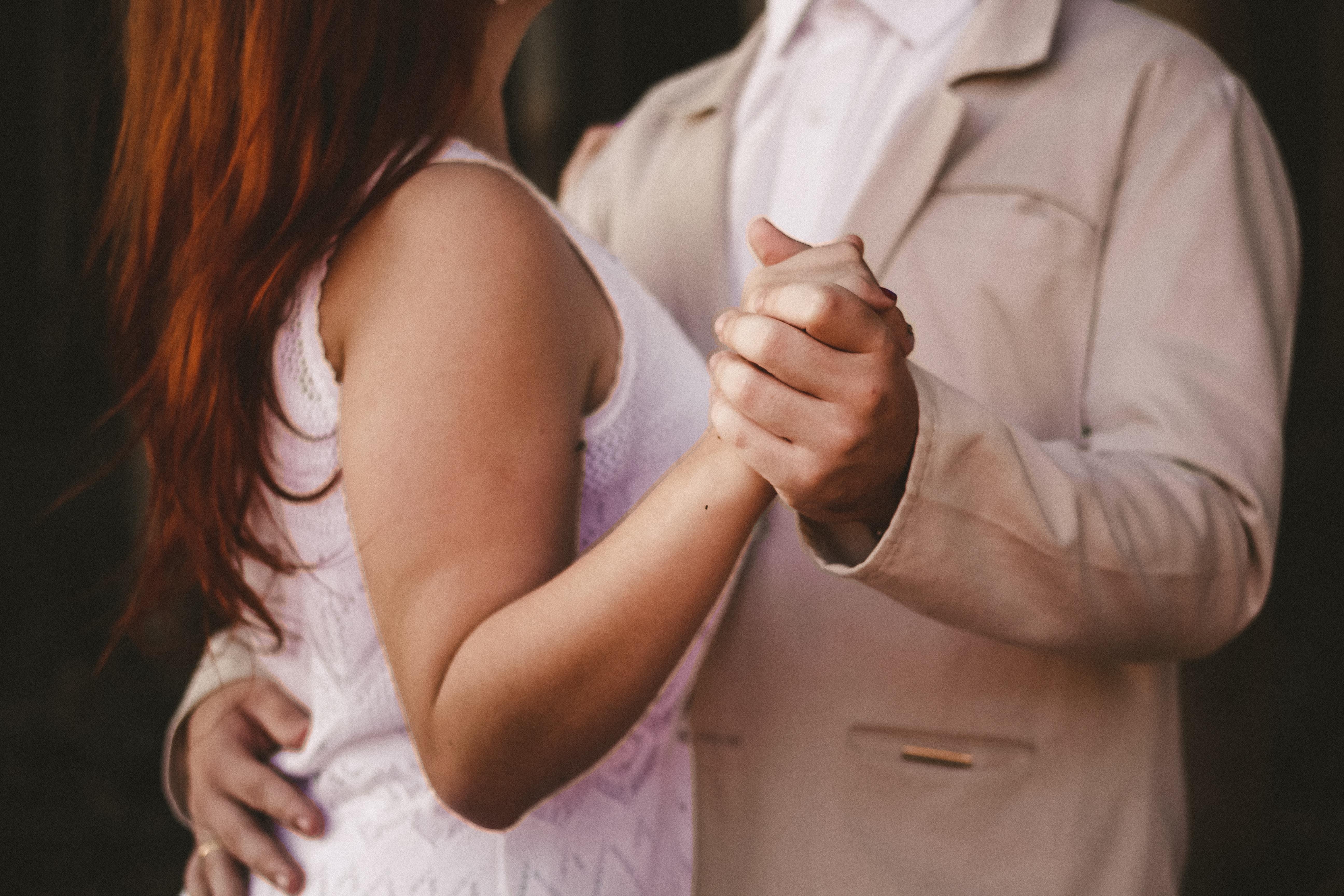 Matrimonial dance on a wedding dance floor