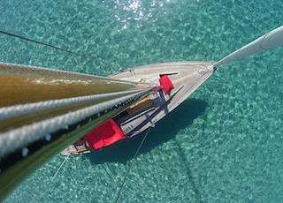 white and pink sailboat at sea during daytiem