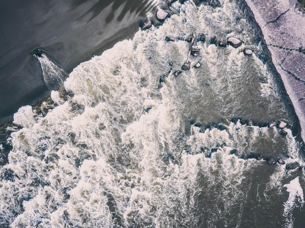 bird's-eye-photography of body of water