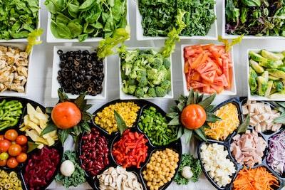 macro shot of vegetable lot