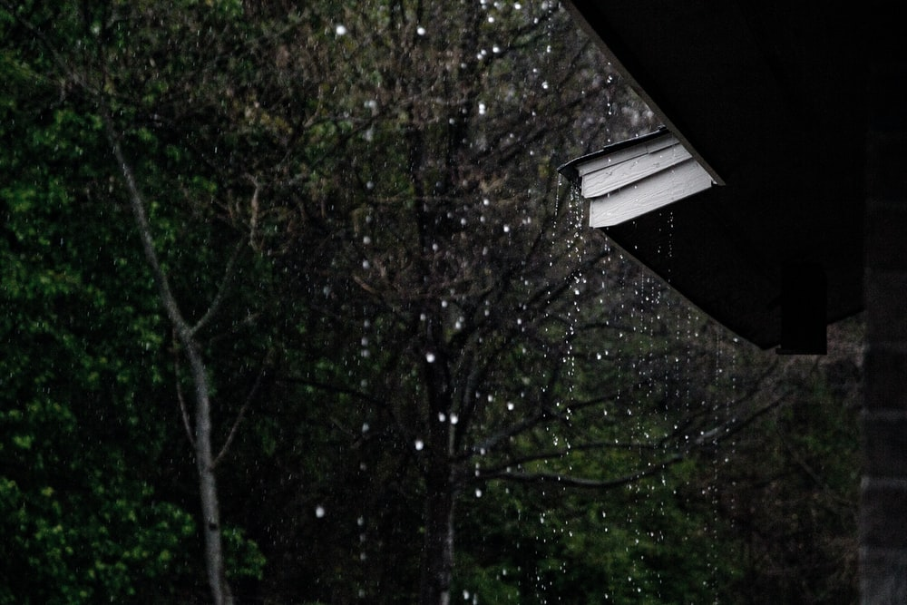 rain dropping from roof