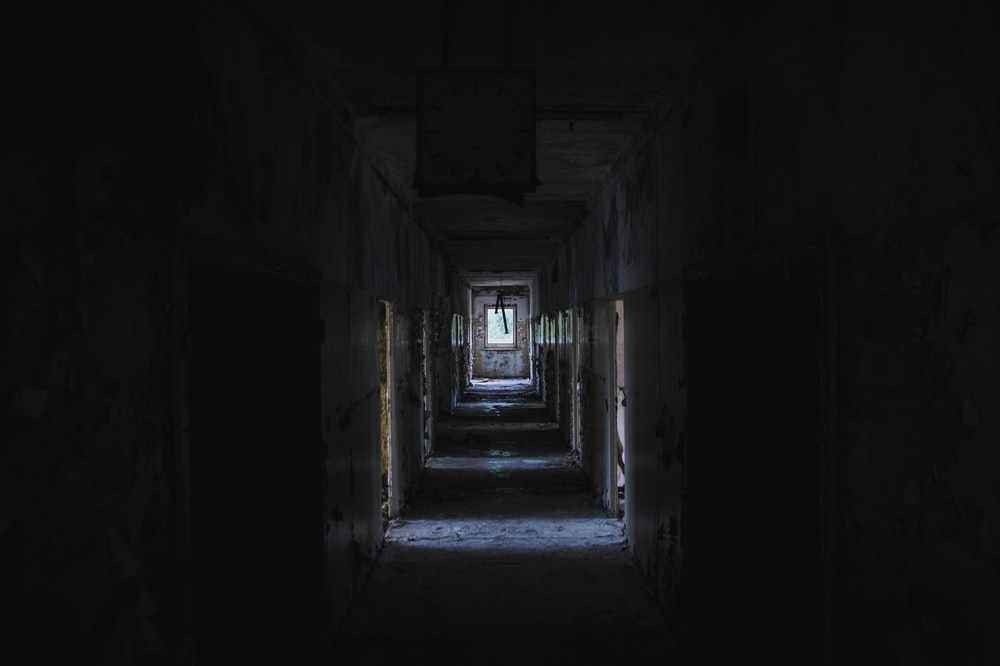 alley of abandoned building