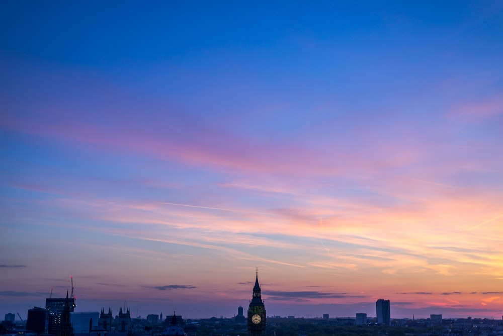 aerial view photo of Big Ben at golden hour