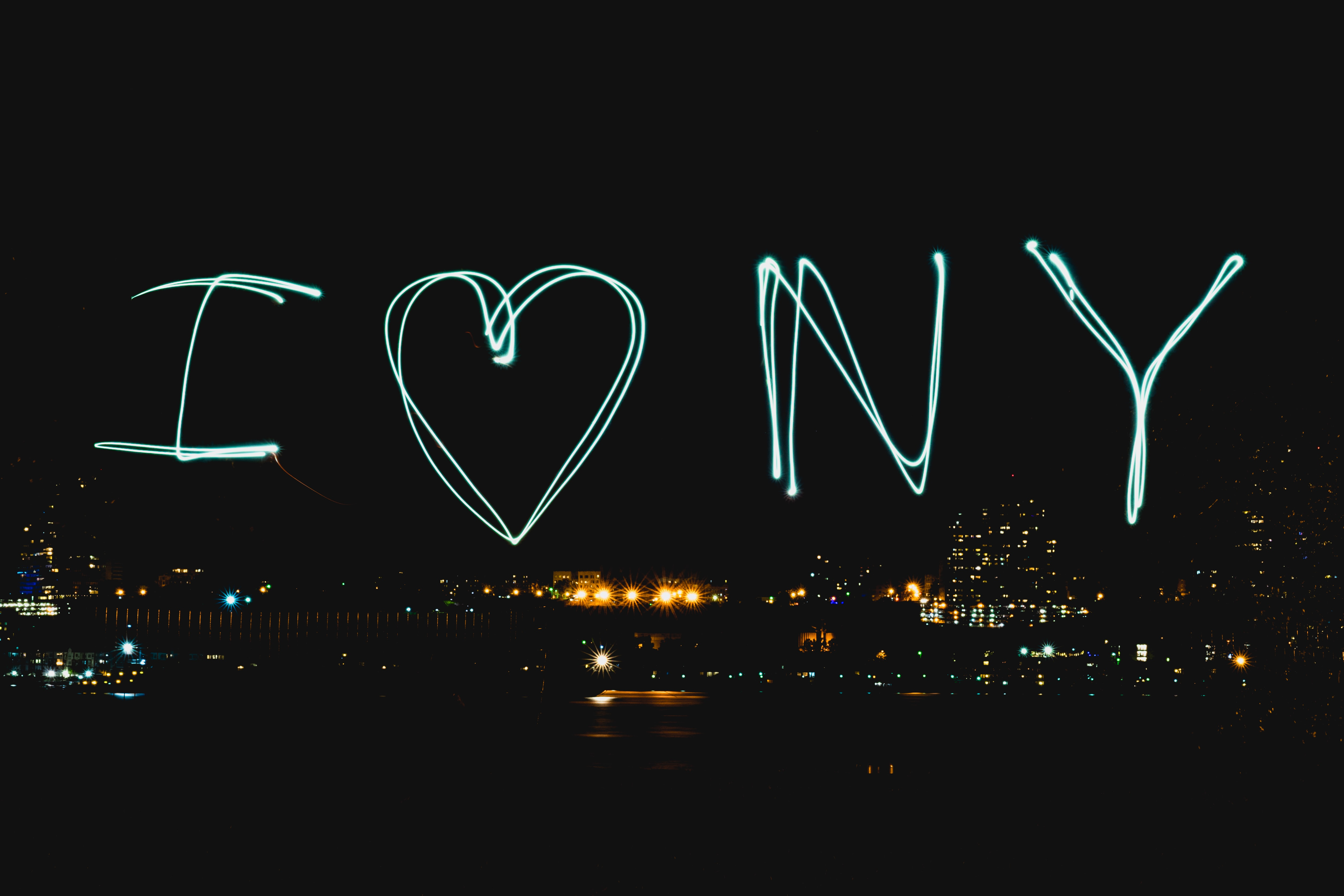 I love New York text
