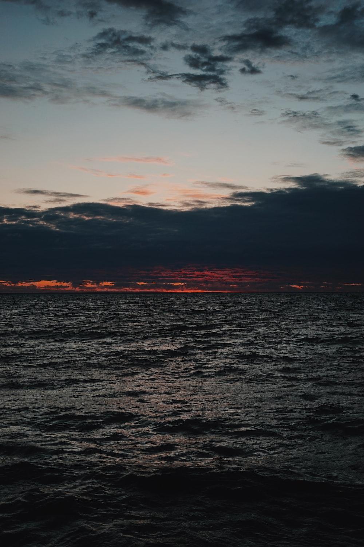 ocean during golden hour