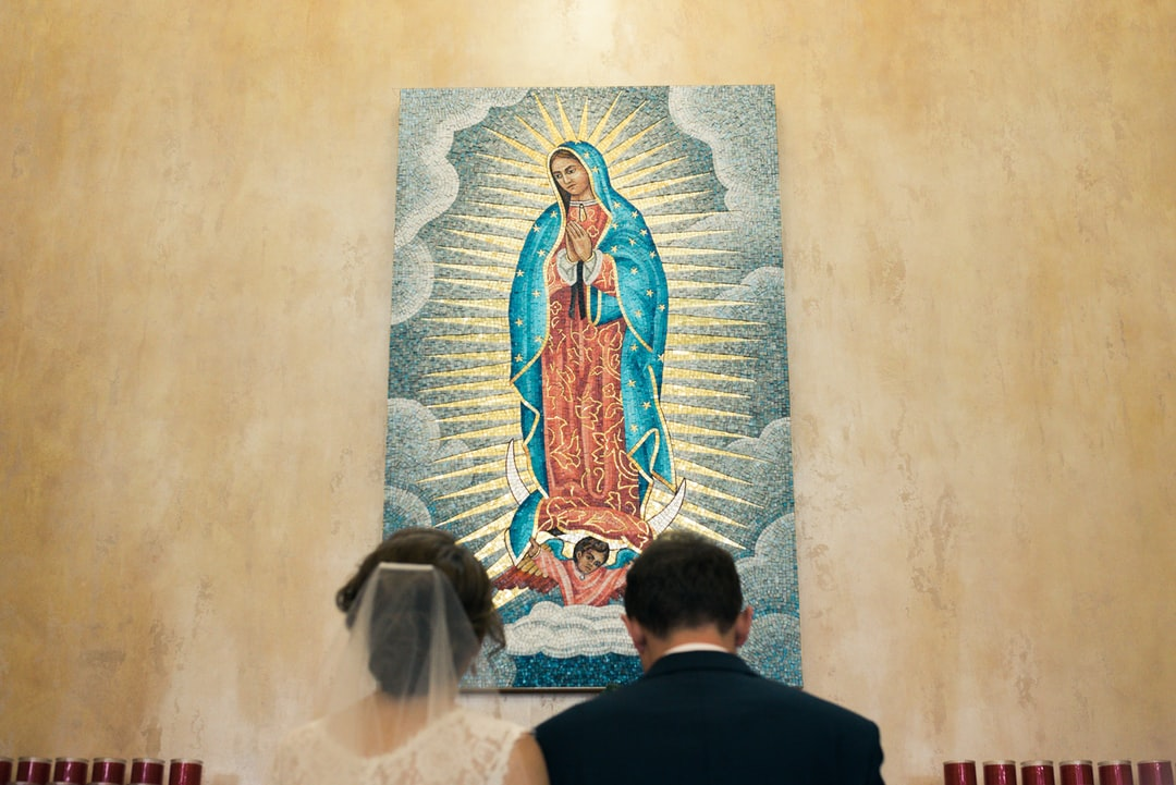 Our Lady of Guadeloupe & Wedding Couple