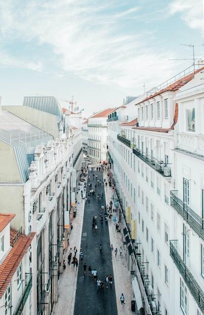 White buildings in Lisbon
