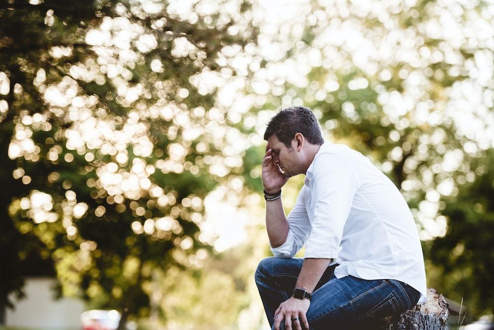 man on thinking pose